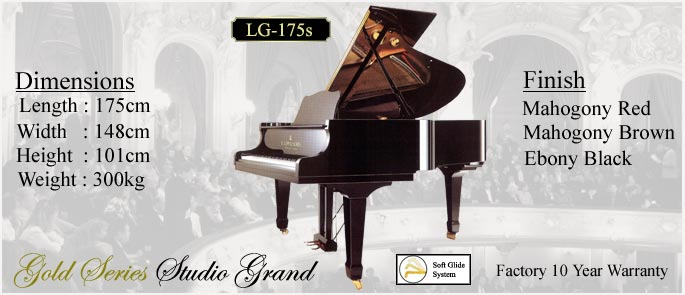 Click to ENLARGE LG-175s Studio Grand Piano